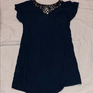 BCBGMAXAZRIA Woven Design Dress